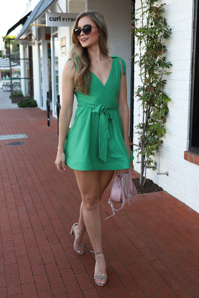 PRE-ORDER: FOREVER GREEN FLARE & FUN DRESS