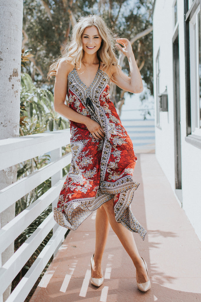 BE MY BABY RED MAXI DRESS
