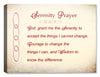 Serenity Prayer on Antique Canvas