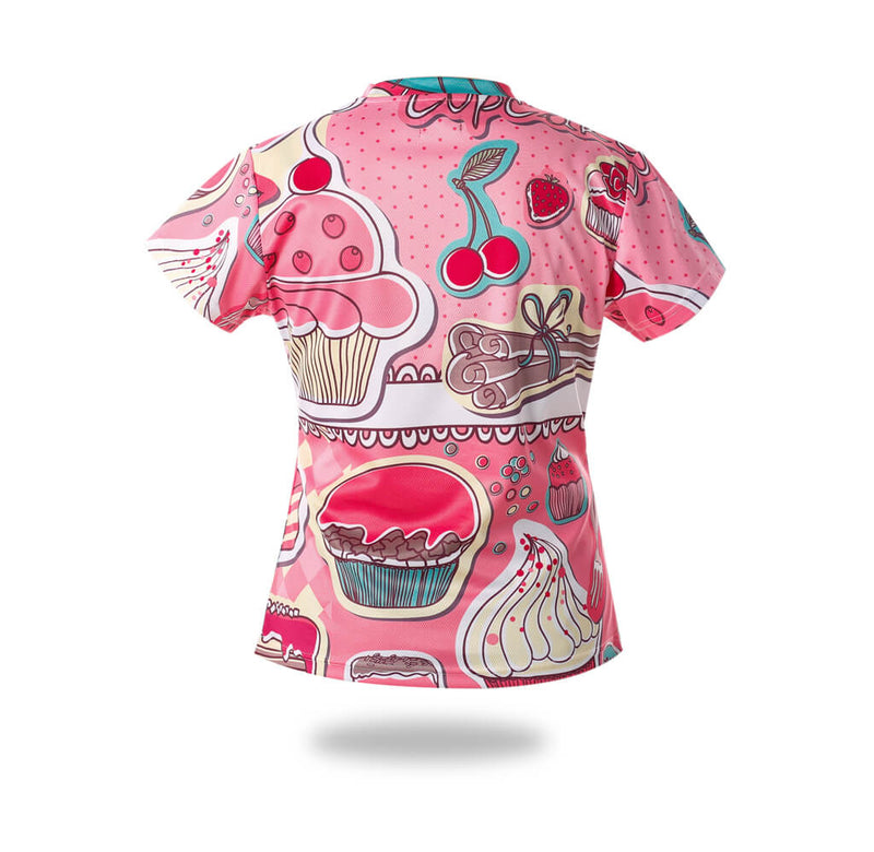 Woman Sublimated Cakes Design Tshirts