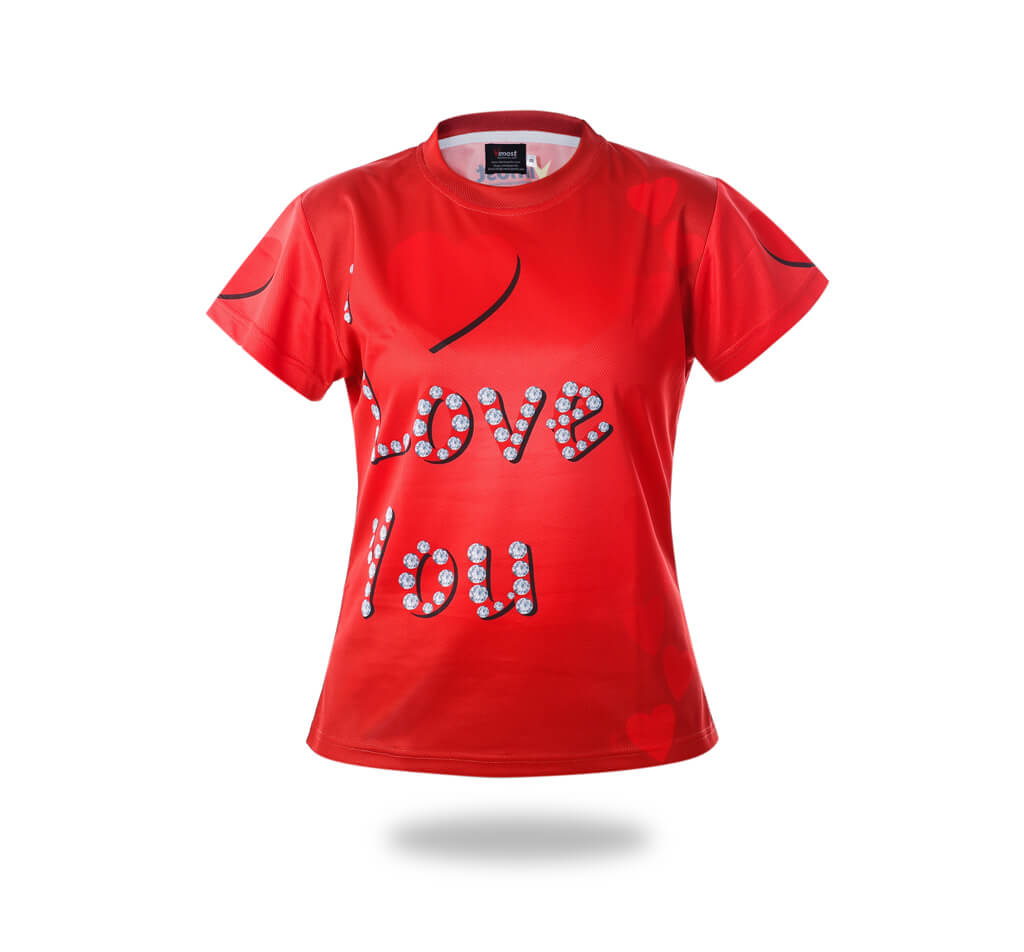 Red I love You Design Tshirts