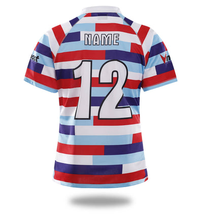 Sublimated Three Color stripes Design rugby Jersey-Vimost Sports