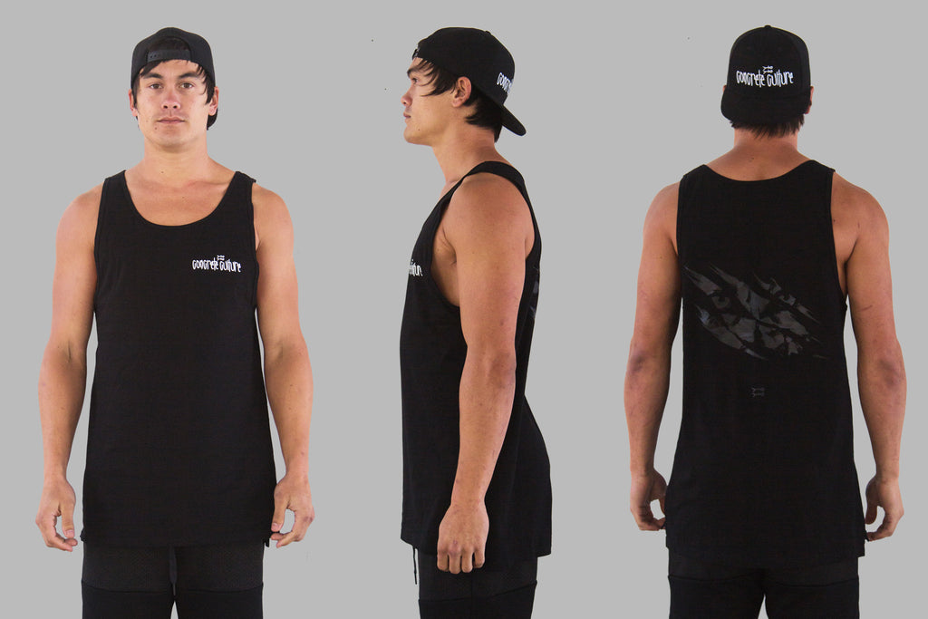 Wolfpack Singlet / Black on Black