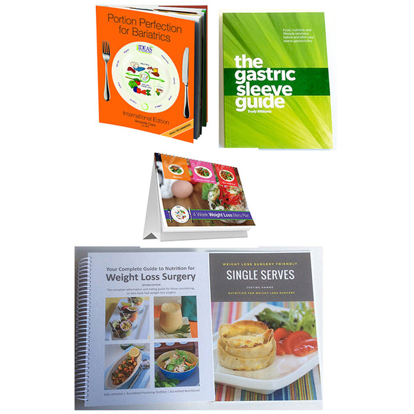 Gastric Sleeve 5 Book Recipe & Meal Plan Pack