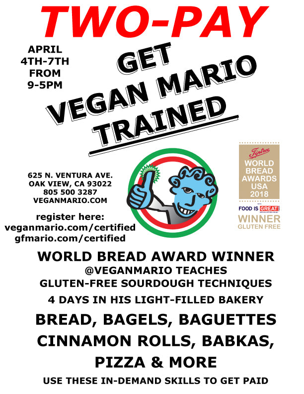 PARTNER WITH VEGAN MARIO + OPEN YOUR OWN GLUTEN-FREE BUSINESS  2-PAY Option