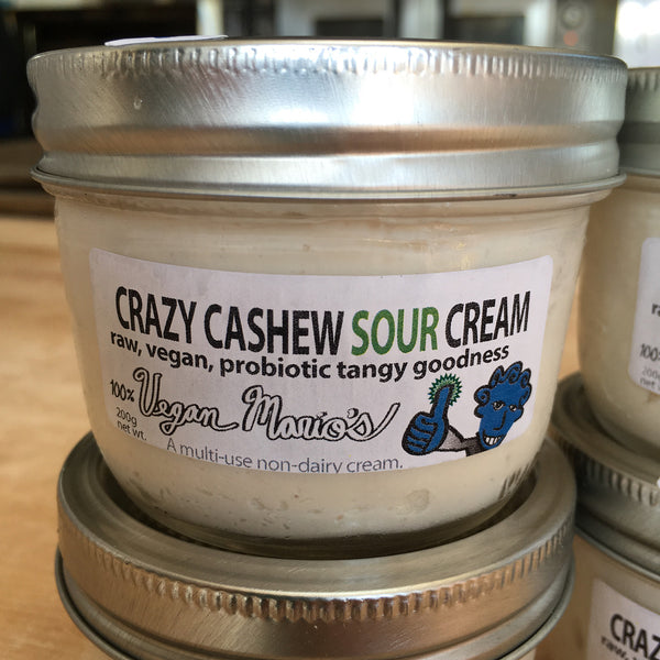 CraZy Cashew SOUR CREAM - Probiotics and Cashews (2 JARS)