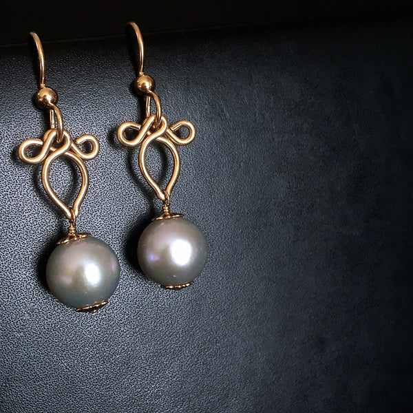 Perla - South Sea Pearls, 14k Gold Filled Earrings