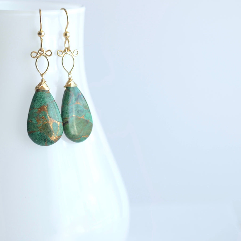 Sunstra - Azurite and 14k Gold Filled Earrings