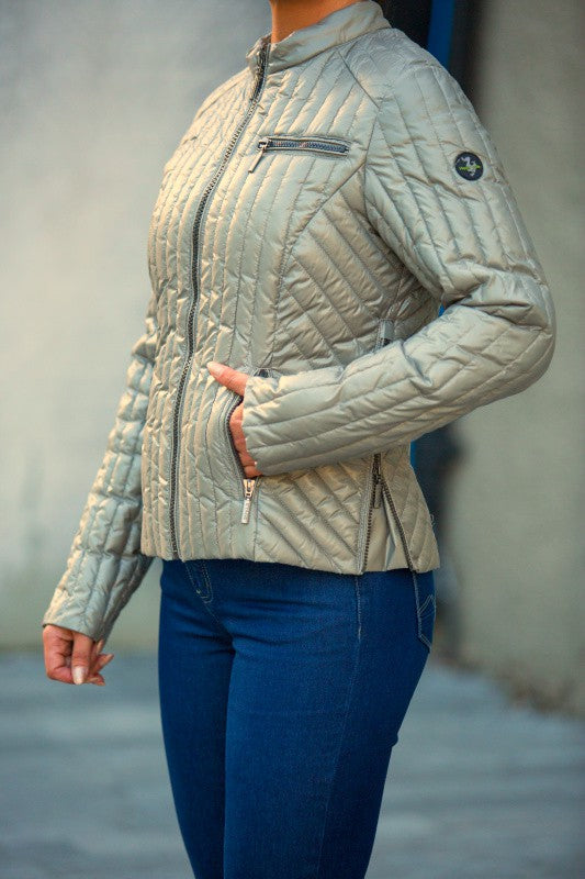 C-Ro Etage Quilted Womens Jacket, Light Green