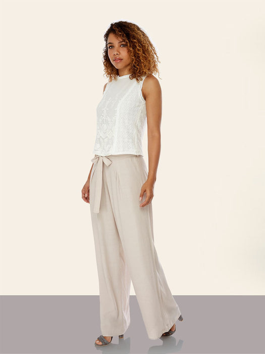 Wide leg palazzo trousers - Lutsia Boutique