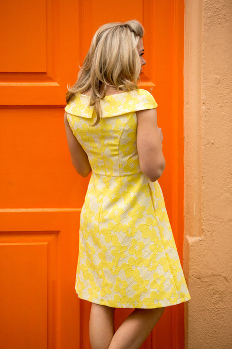 Fit and Flare Polsa Yellow Dress - Lutsia Boutique