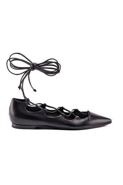 Vicky leather lace up
