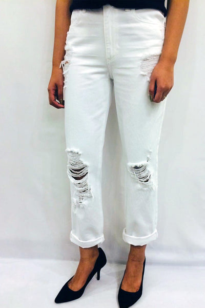 Cult cropped straight cut denim
