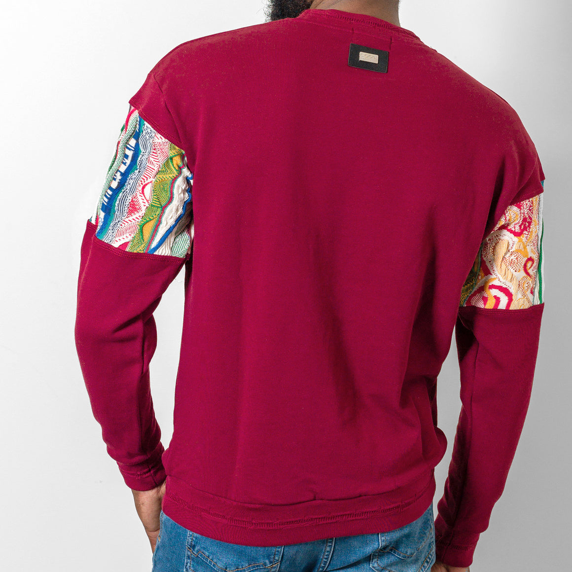 COOGI CUT & SEW FRENCH TERRY CREW - WINE