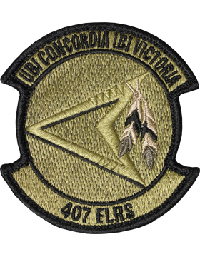 OCP 407TH EXPEDITIONARY LOGISTICS READINESS SQUADRON VELCRO