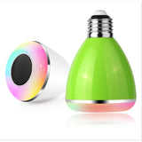 6W LED Bulbs Wireless Bluetooth Speaker Audio Speaker, E27 RGBW Bluetooth 4.0 Music Playing & Lighting Smartphone APP Control - reyes shop store
