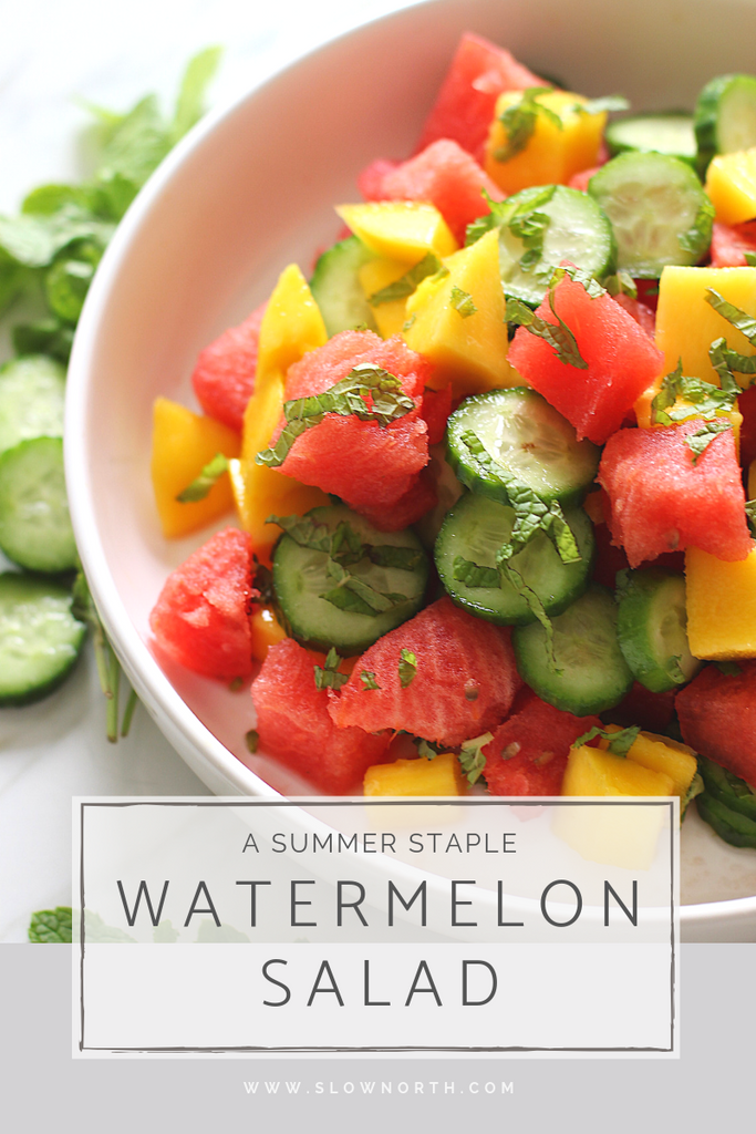 Quick and Easy Summertime Recipe - Watermelon Salad