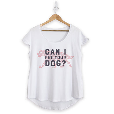Can I Pet Your Dog Cotton Ruffle Tee