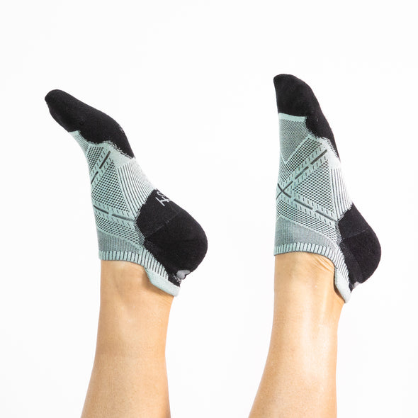 Faceplant Bamboo® Ankle Socks - Aqua/Black