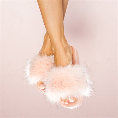 Furry Slides - Pink
