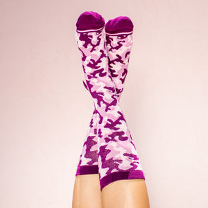 Faceplant Bamboo®Socks: Camouflage Pink