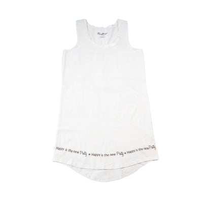 Happy Is The New Pretty - Sleeveless Sleepshirt - 100% Cotton