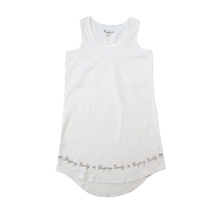 Sleeping Beauty - Sleeveless Sleepshirt -100% cotton