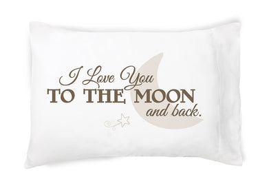 I Love You to the Moon and Back - Pillowcase - Faceplant Dreams