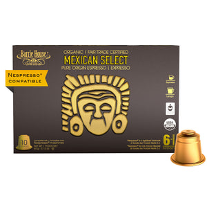 Barrie House Fair Trade Organic Mexican Select Espresso Capsules 10 ct Nespresso Compatible