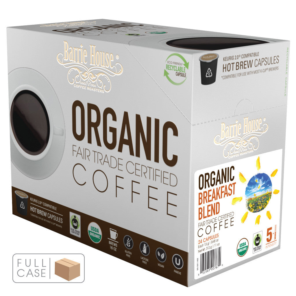 Breakfast Blend Fair Trade Organic Capsules 4/24 ct