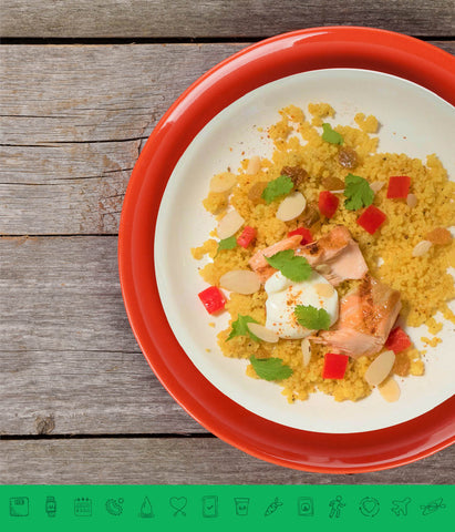 MSPrebiotic® Grilled Salmon Moroccan Spiced Couscous