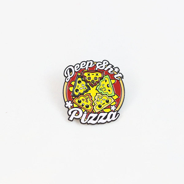 Deep Sh*t Pizza Enamel Pin - I Heart Poop Culture - Furry Feline Creatives