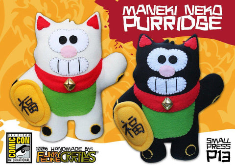 Handmade Maneki Neko Purridge (Limited Edition) - Purridge & Friends - Furry Feline Creatives