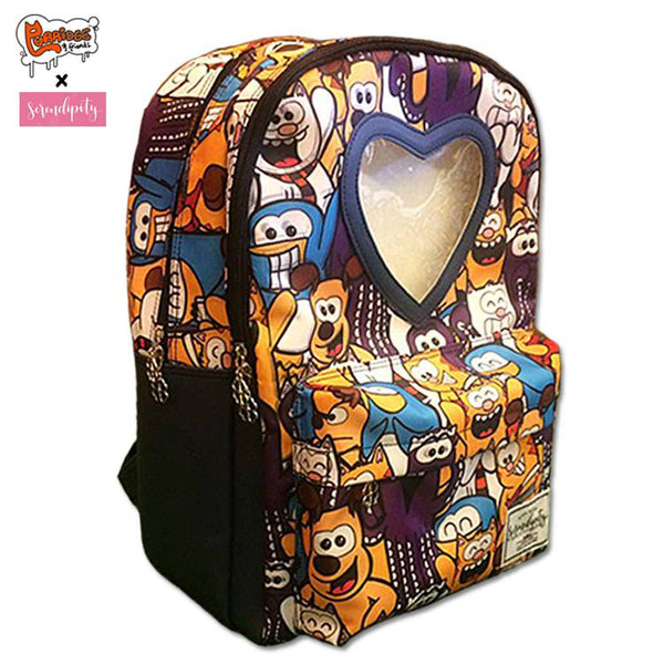 SDCC Exclusive Purridge & Friends Collage Window Backpack - Purridge & Friends - Furry Feline Creatives