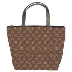 Poopie Classy Brown Handbag - I Heart Poop Culture - Furry Feline Creatives