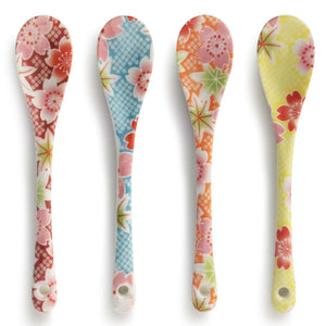 Floral Print Dessert Spoon Set