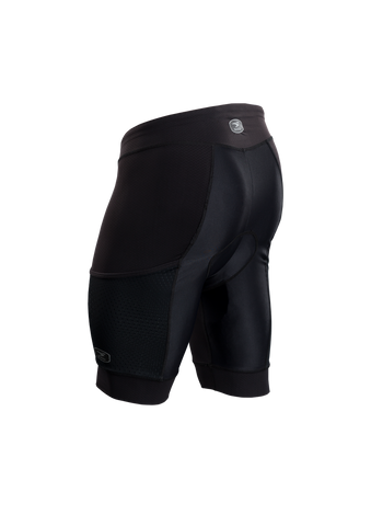 SUGOI Men's Piston 200 Tri Pkt Short, Black Alt (19074U)