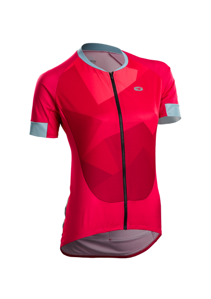 SUGOI Women's RS Training Jersey, Azalea/Mountain Print (U575510F)