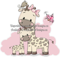 Sweet Critters / Mignons Minois - Pink Giraffe