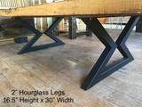 Hour Glass Table Legs