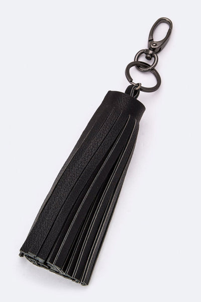 Tassels to Charm leather key Fob