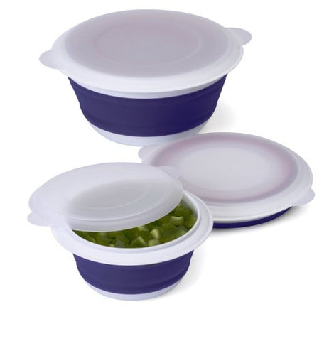 Collapsible Plastic Storage Bowls