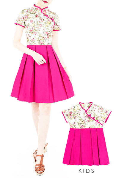 Famille Rose Porcelain Cheongsam Dress