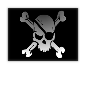 Pirate Flag Canvas Wall Art By ☠ Ahoy Matey Pirate Shop ☠ At Our World Mall!