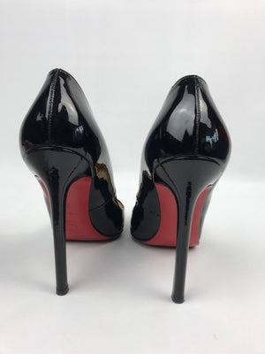 Christian Louboutin Pigalle Patent Black 35 (Resoled)