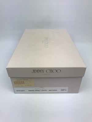 Brand New Jimmy Choo Fleet Snakeprint Sandal 39.5