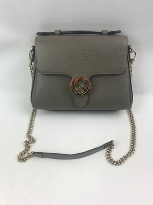 Gucci Interlocking G Chain Crossbody Bag Grey