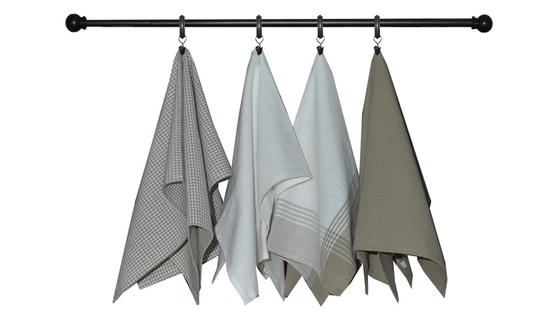 Variety Towel Set - Taupe Set of 4