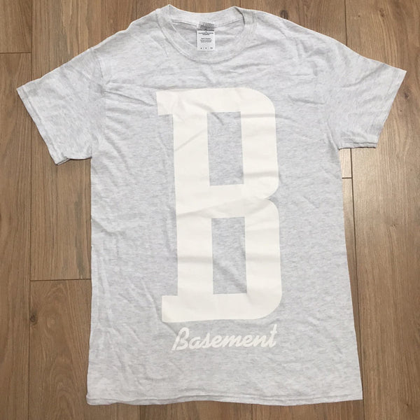 B HEATHER GREY TEE