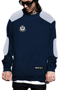 Royal Quilted Crewneck